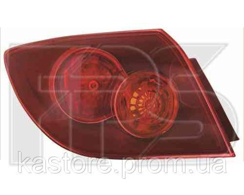 Фонарь задний для Mazda 3 04-05, хетчбек левый, внешний, красный (DEPO)