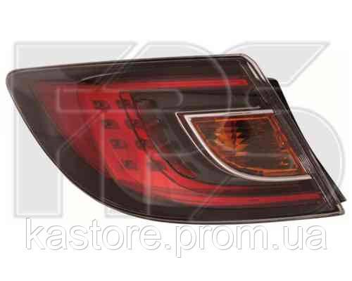 Фонарь задний для Mazda 6 хетчбек/седан 08-10 правый (DEPO) внешний, красный Led
