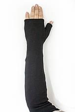 Женские перчатки стрейч без пальцев длинные, фото 2