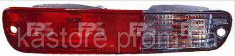 Фонарь задний для Mitsubishi Pajero Wagon 3 03-07 левый (DEPO) красно белый, в бампер