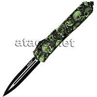 Нож выкидной Зеленый Шершень (фронтальный выброс)