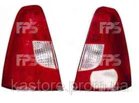 Фонарь задний для Renault Logan 04-08 левый (DEPO) бело-красный
