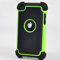 Противоударный чехол бампер Splint для Apple iPod 4 Touch (A1367) - Green