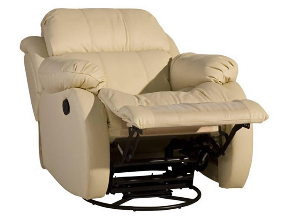 Кожаное кресло с реклайнером REGLAINER (100 см)