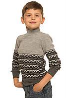 Вязаный свитер Гоша серый