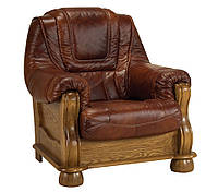 Классическое кожаное кресло ROMA (95 см)