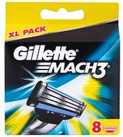 Gillette Mach3 лезвия для бритья, 8 шт.