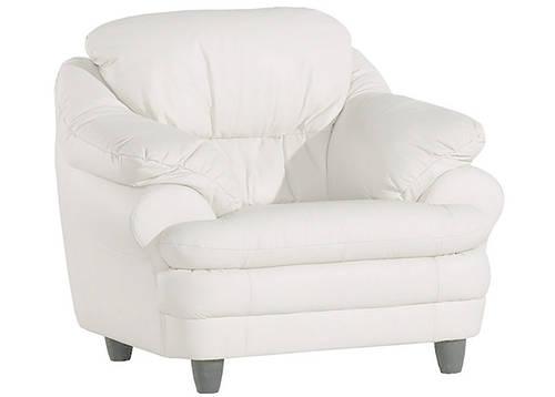 Мягкое кожаное кресло SARA (100 см)
