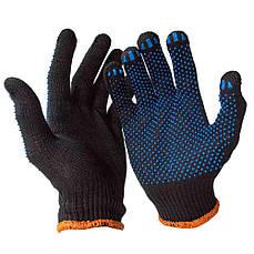 Перчатка рабочая трикотажная с ПВХ VIVA (упаковки по 10 пар) V-8311 (черная)