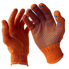 Перчатка рабочая трикотажная с ПВХ VIVA (упаковки по 10 пар) V-8312 (оранжевая)