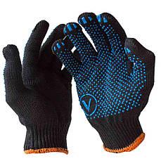 Перчатка рабочая трикотажная с ПВХ VIVA (упаковки по 10 пар) V-8411 (черная)