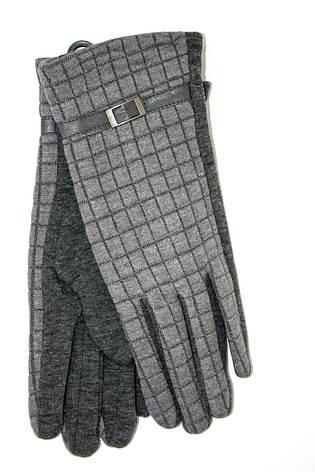 Женские стрейчевые перчатки Универсальные Серые, фото 2