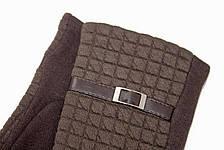 Женские стрейчевые перчатки Универсальные Коричневые, фото 3