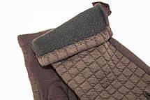 Женские стрейчевые перчатки Универсальные Коричневые, фото 2