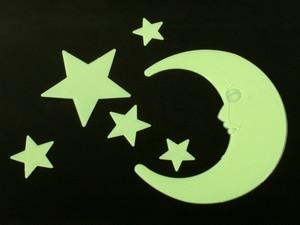 Наклейки фосфорицирующие Пластик світяться Наклейки Місяць і зірки - 2 / Big / 6 шт 15.0 x x 13.0 0.0 см