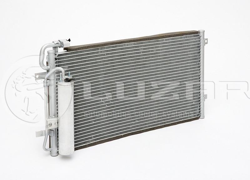 Радиатор кондиционера 2170 HALLA с ресивером (LRAC 0127) ЛУЗАР