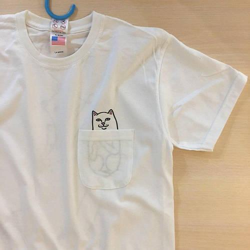 RipNDip футболка Бирка оригинал Карман с котиком