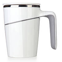 Стильная термокружка The Boss с крышкой, металл + пластик, с логотипом