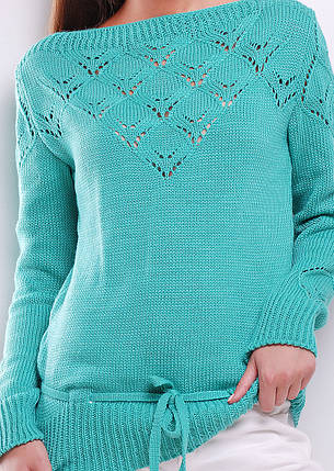 Однотонный женский свитер, фото 2