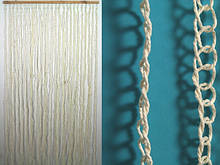 Занавеска на дверь Занавеска на дверь Веревка Кольца Белый 185.0 x 90.0 x 0.3 см