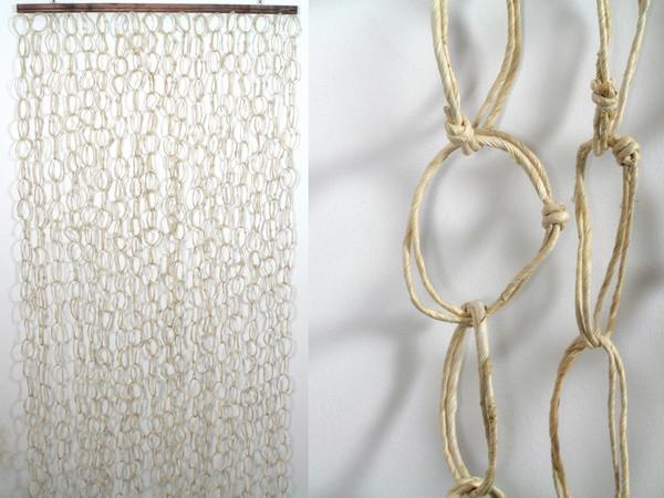 Фіранка на двері Солома Кільця Білий 200.0 x 90.0 x 0.3 см