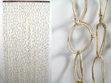 Занавеска на дверь Занавеска на дверь Солома Кольца Белый 200.0 x 90.0 x 0.3 см