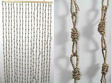 Занавеска на дверь Занавеска на дверь Солома Узелки Кофе с молоком 185.0 x 90.0 x 0.5 см