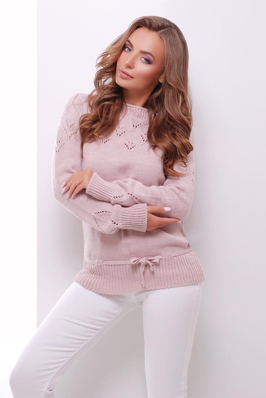 Однотонний жіночий светр