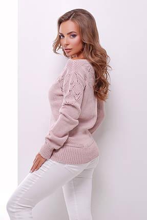 Однотонний жіночий светр, фото 2