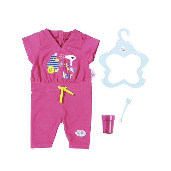 Одежда  куклы Беби Борн комплект Пижама для сна с зубной щеткой Baby Born Zapf Creation 823590