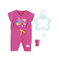 Одежда  куклы Беби Борн комплект Пижама для сна с зубной щеткой Baby Born Zapf Creation 823590, фото 1