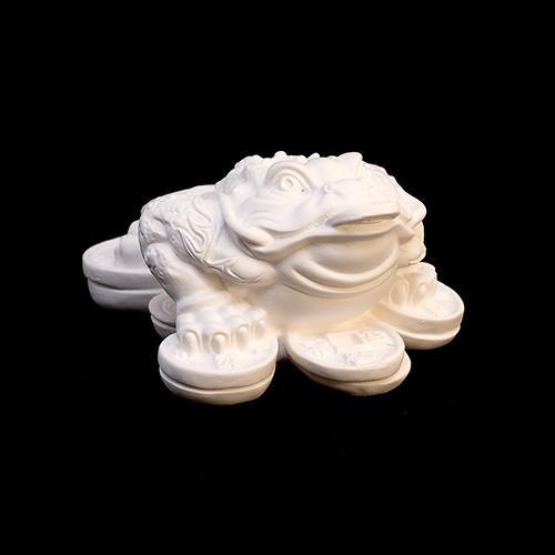 Фигурка для Раскрашивания Жаба Трехлапая Белый 8.0 x 6.0 x 4.0 см