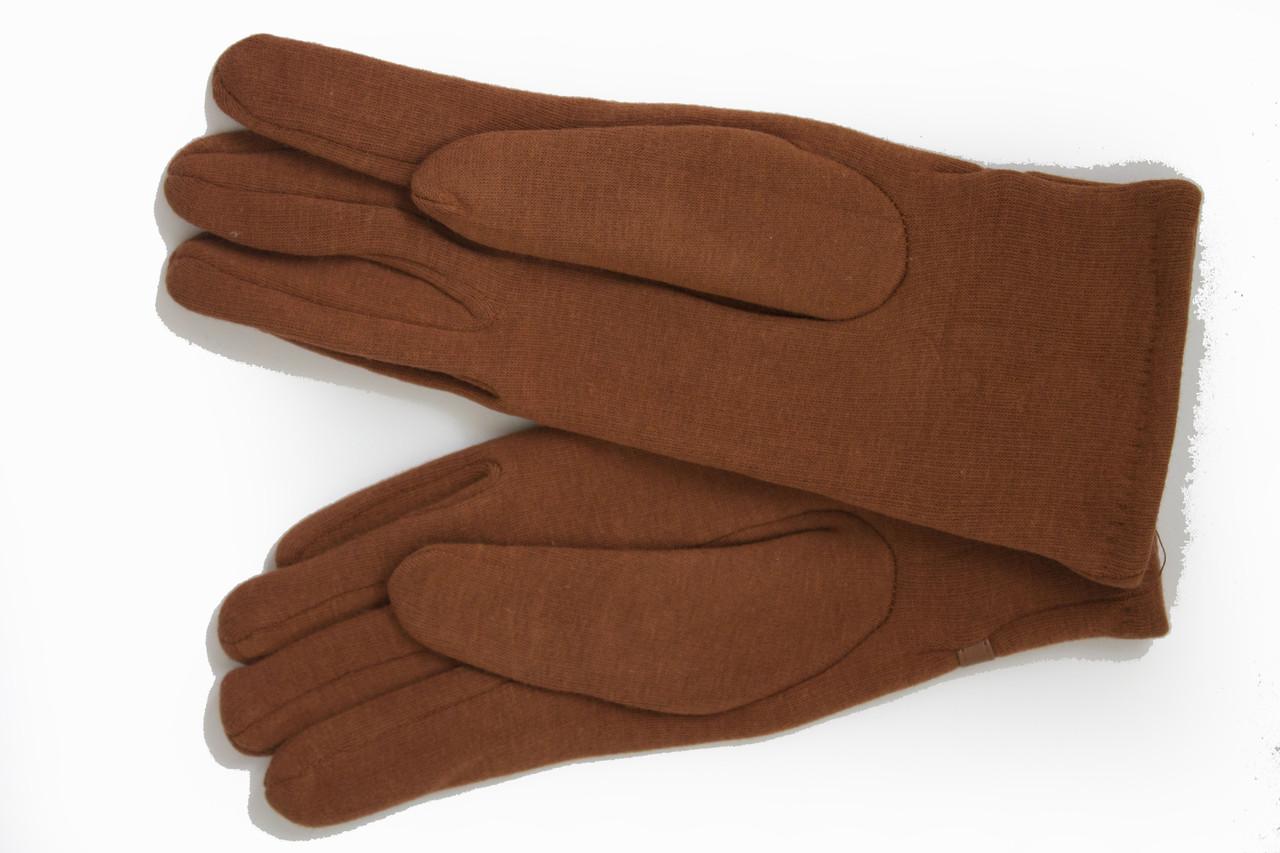 Женские стрейчевые перчатки Цветные Рыжий БОЛЬШИЕ