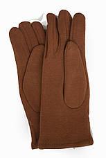 Женские стрейчевые перчатки Цветные Рыжий БОЛЬШИЕ, фото 2