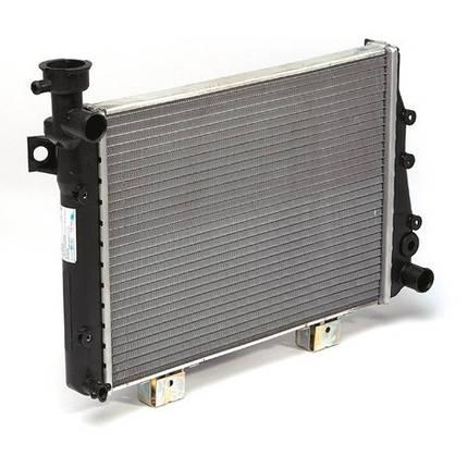 Радиатор охлаждения ВАЗ 2105,2107 Лузар алюминиевый, фото 2