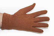 Женские стрейчевые перчатки Цветные Рыжий БОЛЬШИЕ, фото 3