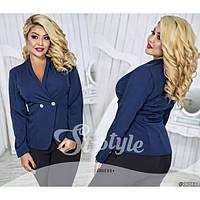 Женский пиджак из костюмной ткани, размеры 48-54 (разные цвета)