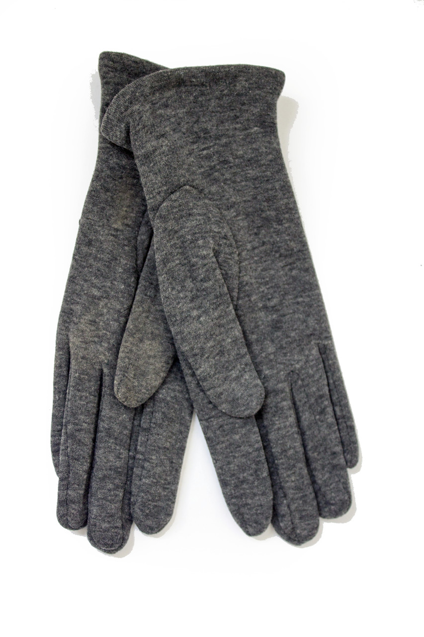 Женские стрейчевые перчатки Цветные Серые Средние