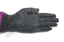 Женские стрейчевые перчатки Цветные Серые Средние, фото 3