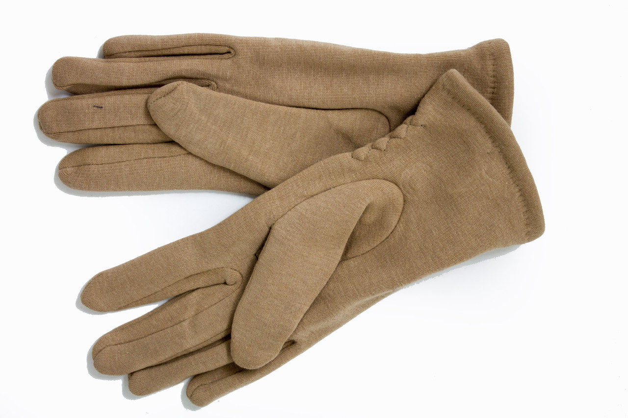 Женские стрейчевые перчатки Цветные Бежевый