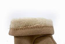 Женские стрейчевые перчатки Цветные Бежевый, фото 3