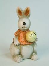 Фигурка Керамическая Фигурка керамическая пасхальная Зайчишка и Яйцо 7.5 x 4.0 x 4.0 см
