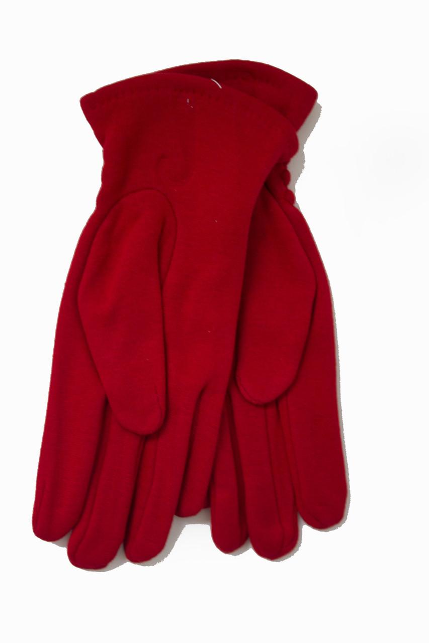 Женские стрейчевые перчатки Цветные Красный БОЛЬШИЕ