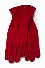 Женские стрейчевые перчатки Цветные Красный БОЛЬШИЕ, фото 2