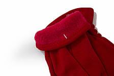 Женские стрейчевые перчатки Цветные Красный БОЛЬШИЕ, фото 3
