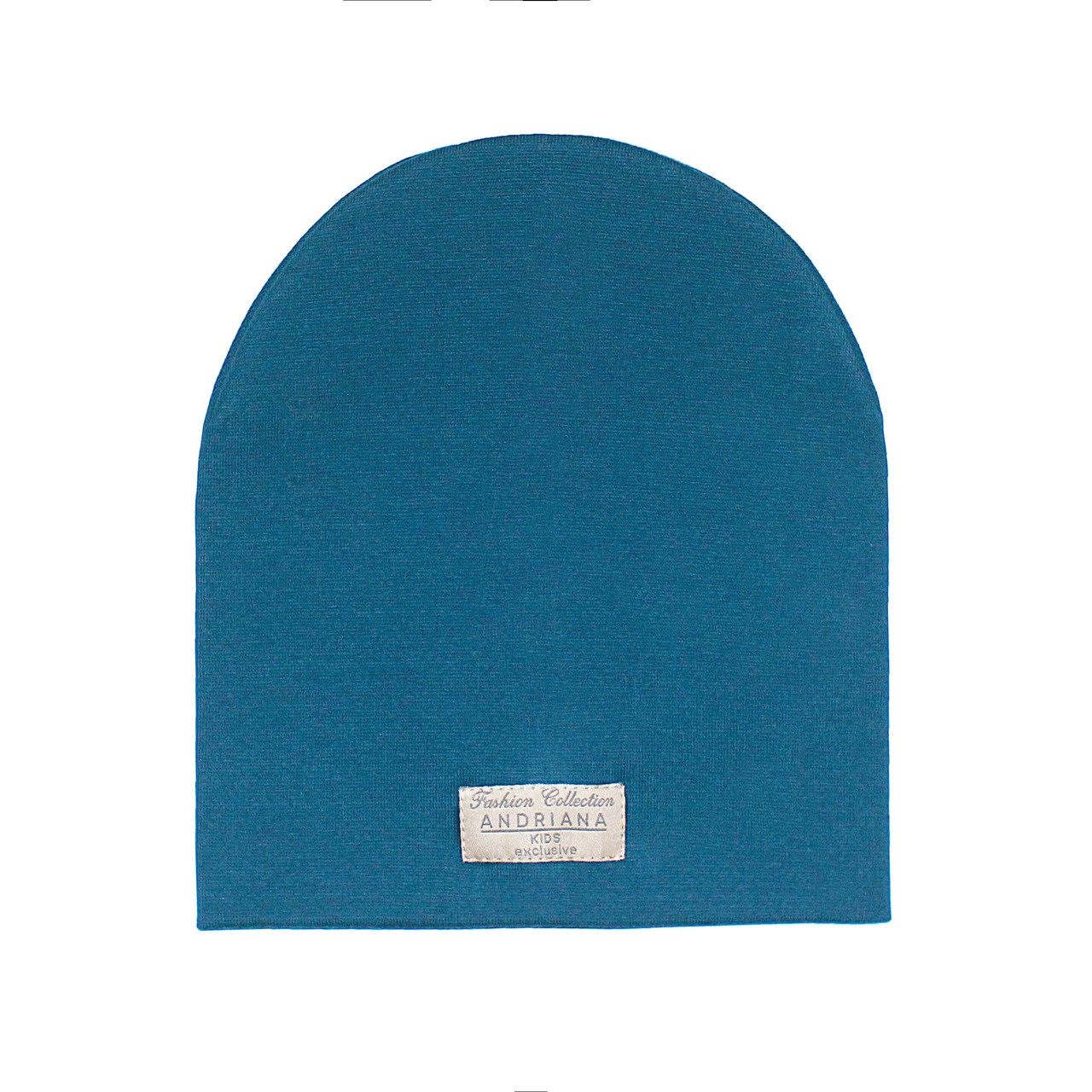 Двойная шапочка 44-46,48-50,52-54 см. Andriana Kids синяя