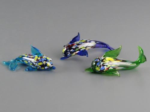 Фигурка стеклянная Фигурка стеклянная Дельфин 6.5 x 3.5 x 2.5 см