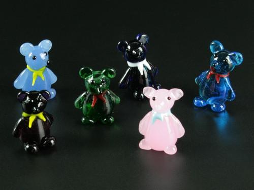 Фигурка стеклянная Фигурка стеклянная Мишка 3.0 x 2.5 x 2.0 см