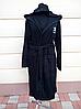 Махровый халат черного цвета