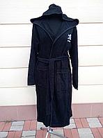 Махровый халат черного цвета , фото 1